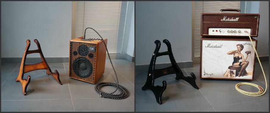 Mini Dragon - Wooden Design Guitar Stand - Bulldog Music Gear