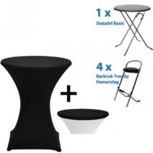 FoldX Sta tafels en Barkrukken bundel 20 kleuren