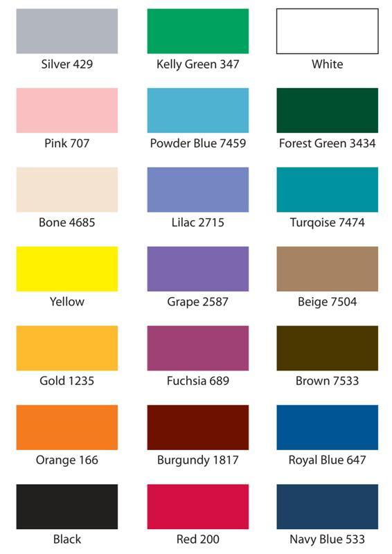 verschillende kleuren voor de easyup tent