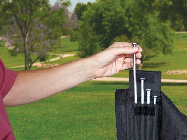 Pin haring, stevig vast zetten van de vouwtent