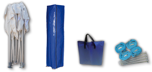 Inhoud vouwtent 3 bij 3 combipakket S-Light polyester