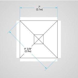PRO ProUmbrella, parasols promotie 2.1 vierkant