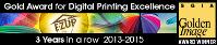 Winnaar in bedrukking van Professionele easyup 3 jaar op rij de beste full-colour digitale prints