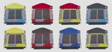 Mix je kleur bij de kampeer binnentent