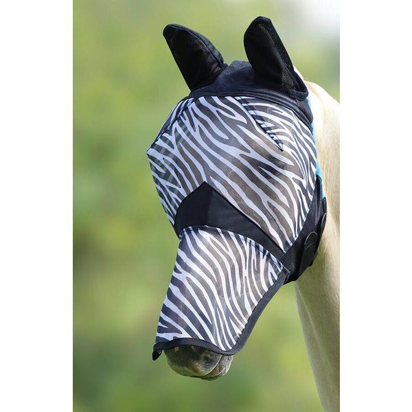 Fijnmazig vliegenmasker zebra