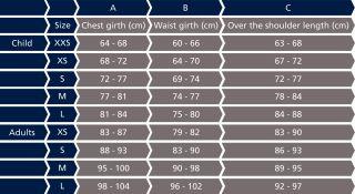 Tabel Maten Volwassenen