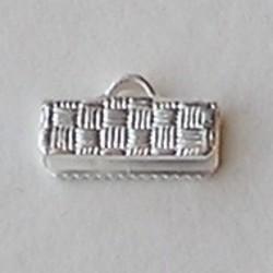 Bandklem. 13mm. Silverplated.