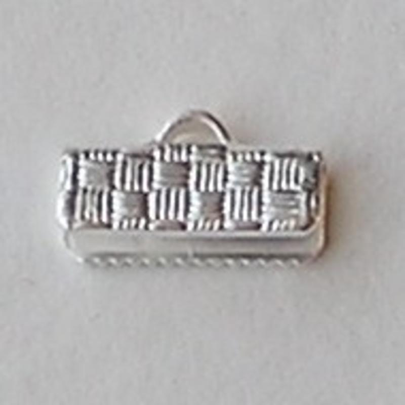 Bandklem. 13mm. Silverplated voor sieraden en accessoires