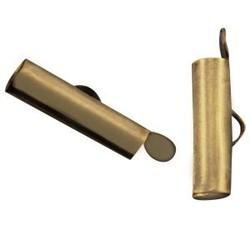 Eindkap 6x15.5mm. Bronskleurig.