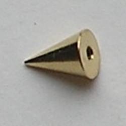 Konisch Dopje. 8mm. Goudkleur. Voor Beadpin met schroefdraad.