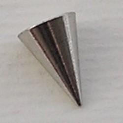 Konisch Dopje. 8mm. Zilverkleurig voor Beadpin met schroefdraad.