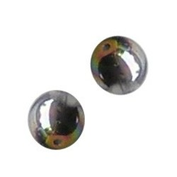 Glaskraal. 8mm. Crystal met een Vitrail laagje
