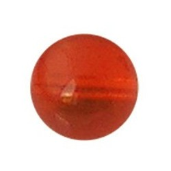 Glaskraal. 12mm. Oranje. transparant.