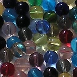 Glaskralenmix. Color Dream. Transparant. 8mm. Zakje van 100 stuks.
