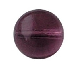 Glaskraal 6mm. Amethist Transparant