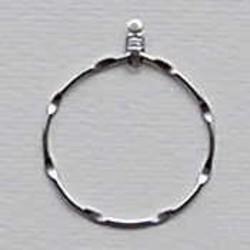 Oorring aanhanger zilverkleurig gedraaid 30mm. per stuk voor