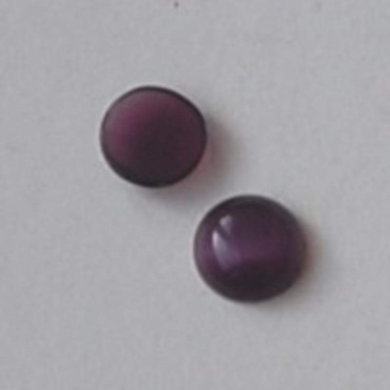 Cabochon 8mm. Purple. Glas Cateye. Rond.
