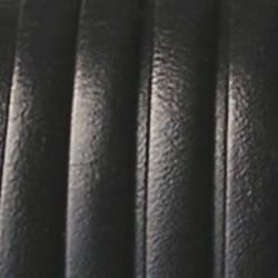Leren band. 6mm. Zwart. Italiaanse kwaliteit Per stuk van 10 centimeter.