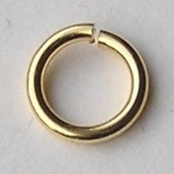 Aanbuigring. Brass. 12x1.8mm. Goudkleurig. Hoogwaardige kwaliteit.