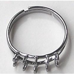 Verstelbare Ring. met 10-ogen. Blackplated.