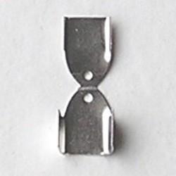 Veter of lint klem. 8x12mm. Brass. Zilverkleurig.