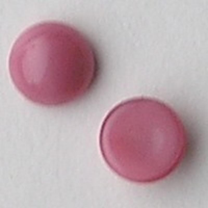 Cabochon 8mm. Roze Opal. Glas Rond.
