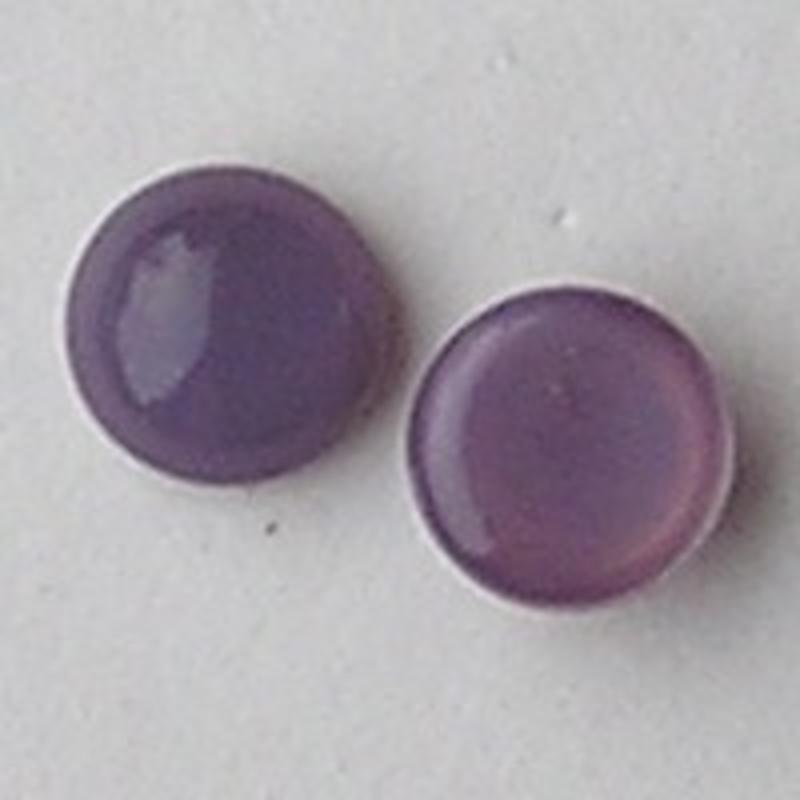 Cabochon. Lilac Opal. Glas. Rond. 8mm.