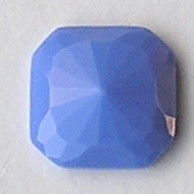 Cabochon. Blue Opaque. Glas. Vierkant. 24x24mm.
