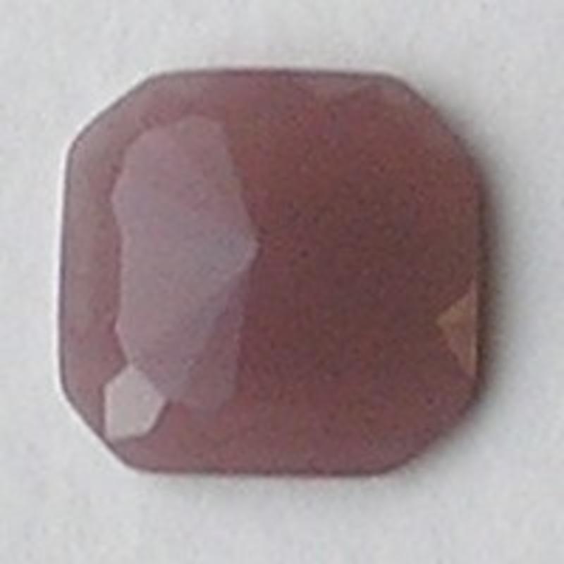 Cabochon. 24x24mm. Mauve Opal. Glas. Vierkant.