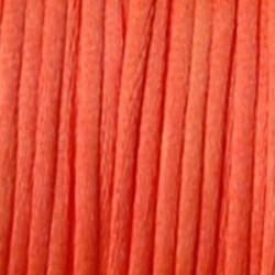 Satijnkoord. Neon Oranje. 2mm. 1 meter van de rol voor