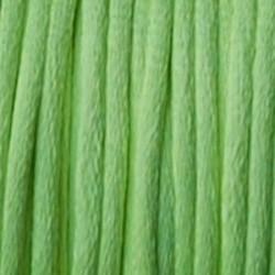 Satijnkoord. Neon Groen. 2mm. 1 meter van de rol voor