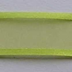 Organzalint. Lime. 25mm. Met Satijnrand. 1 meter voor