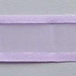 Organzalint. Lila. 25mm. Met Satijnrand. 1 meter voor