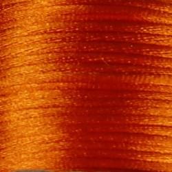 Satijnkoord. 2mm dik Oranje. 1 meter voor