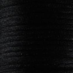 Satijnkoord. 2mm dik Zwart. 1 meter voor