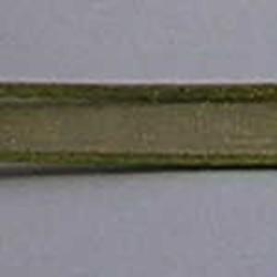 Organzalint. Olivine. 10mm. Met Satijnrand. Per meter voor