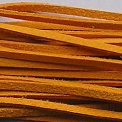 Imitatie Suede Veter. Orange. Lengte 1 mtr. x 3mm.