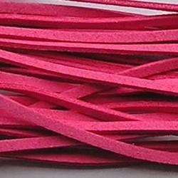 Imitatie Suede Veter. Zuurstok roze. Lengte 1 mtr. x 3mm.