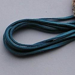 Imitatie Suede Veter. Ocean Blue Lengte 1 mtr. x 3mm.