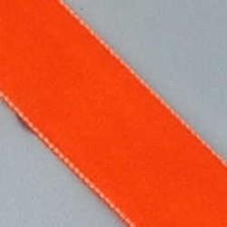 Fluweelband. 22mm. Oranje. 0,50 meter voor