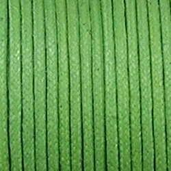 Waxcord. 2mm. Groen. Per meter.