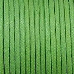 Waxkoord. 2mm. Groen. Per meter van de rol