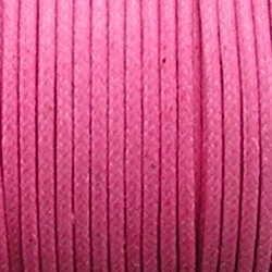 Waxcord. 2mm. Roze. Per meter.