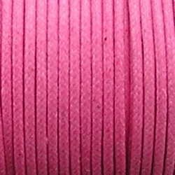 Waxkoord. 2mm. Roze. Per meter van de rol