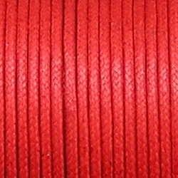 Waxkoord. 2mm. Rood. Per meter van de rol
