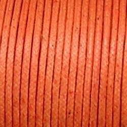 Waxkoord. 2mm. Oranje. Per meter van de rol