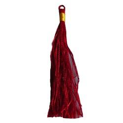 Kwastje satijn. 80mm lengte Rood.