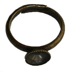 Verstelbare Ring. Hoogwaard. materiaal. voor rivoli ss39. Bronskleurig.