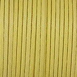 Waxkoord. 1mm. Geel. Per meter van de rol