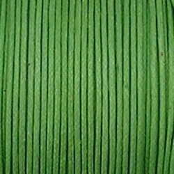 Waxkoord. 1mm. Groen. Per meter van de rol